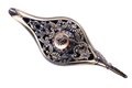 Decorated Silver Magic Lamp isolated top view