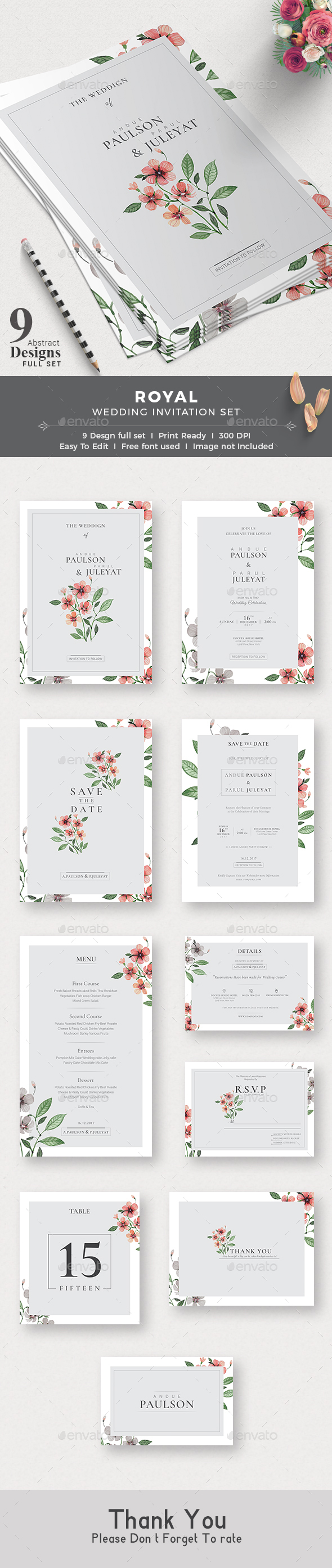 GraphicRiver Wedding Invitation 20660211