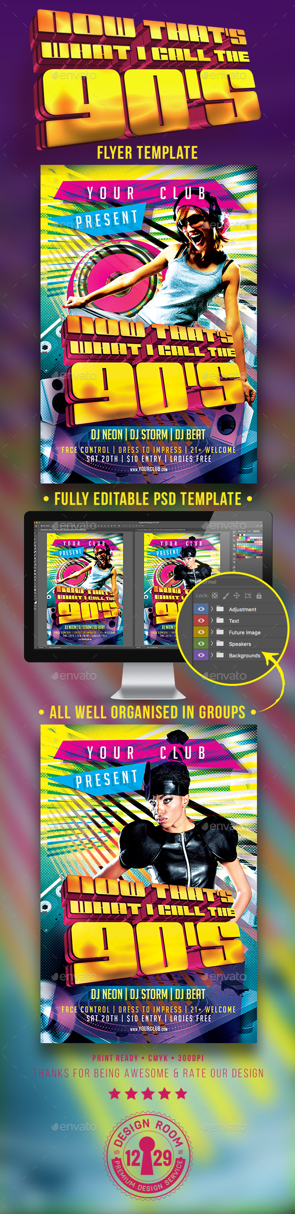 Now That's What I Call The 90's Flyer Template - Clubs & Parties Events