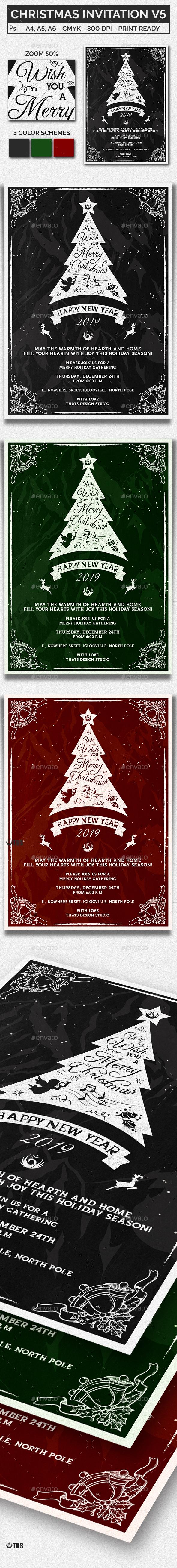 Christmas Invitation Template V5 - Invitations Cards & Invites