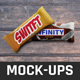 Chocolate Bar Pack Mock-Ups V2 - GraphicRiver Item for Sale