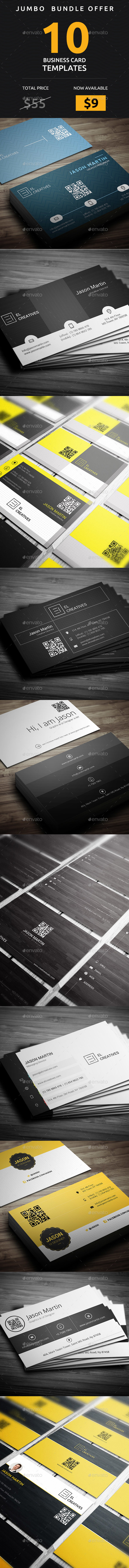 GraphicRiver Jumbo Bundle 10 in 1 Pro Master Business Cards Collection 20660413