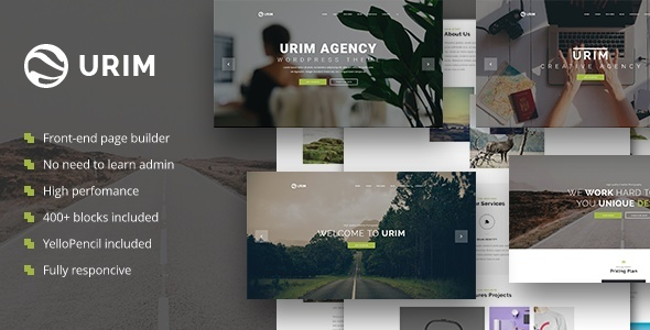 Urim - Creative Agency WordPress Theme