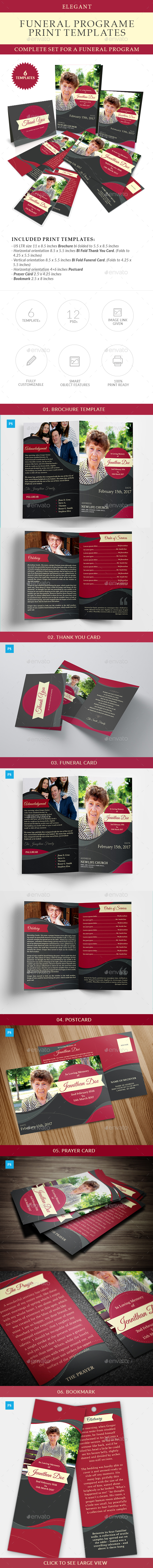 GraphicRiver Elegant Funeral Program Templates Combo Set 20660560