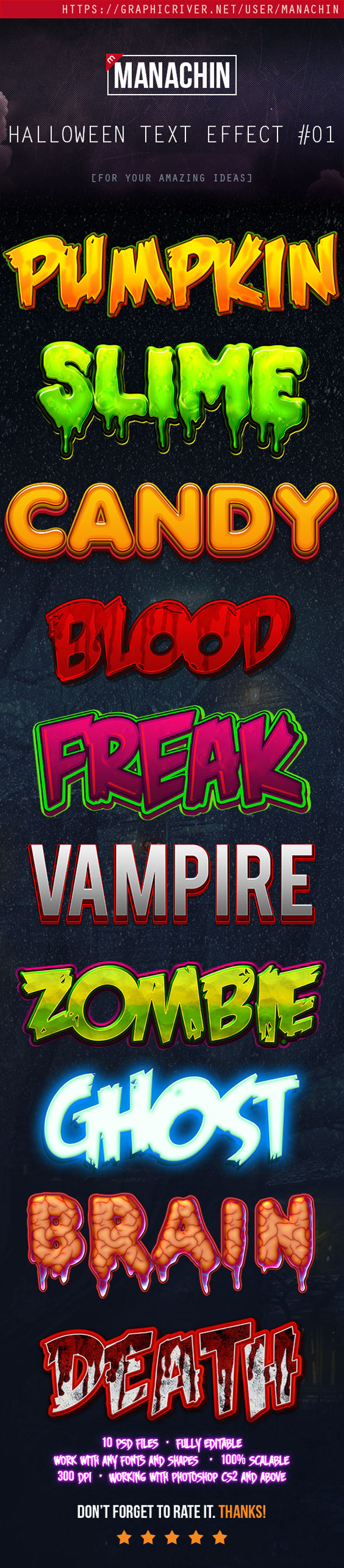 Premium Halloween Text Effects Vol.1 - Text Effects Styles