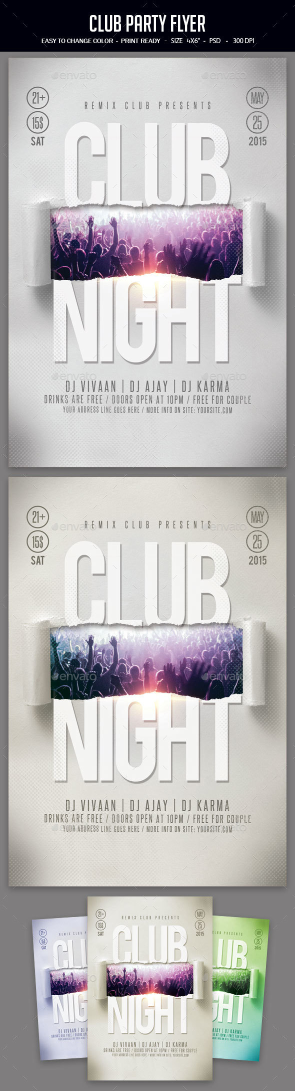 GraphicRiver Club Party Flyer 20660588