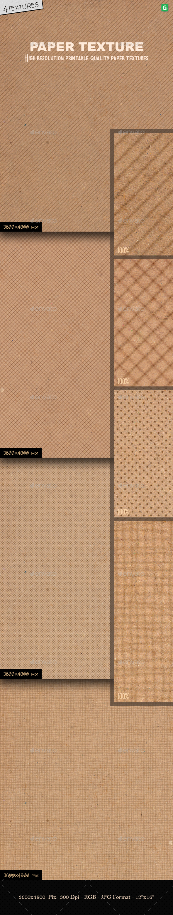 GraphicRiver Paper Texture Pack 4 20660720