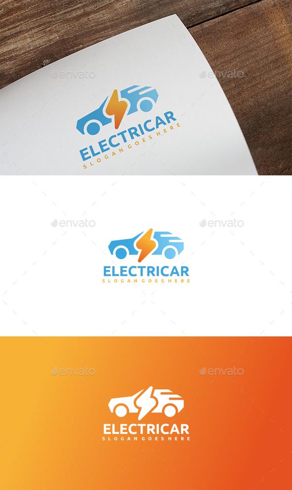 Electric Car Logo - Abstract Logo Templates