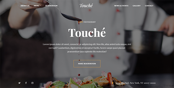Touche - Cafe & Restaurant Bootstrap 4 Template - Restaurants & Cafes Entertainment