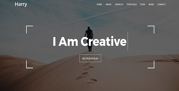 Harry – Creative Portfolio Template