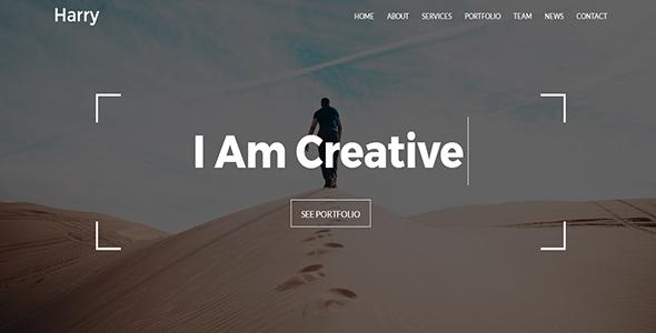 Download Free Harry – Creative Portfolio Template