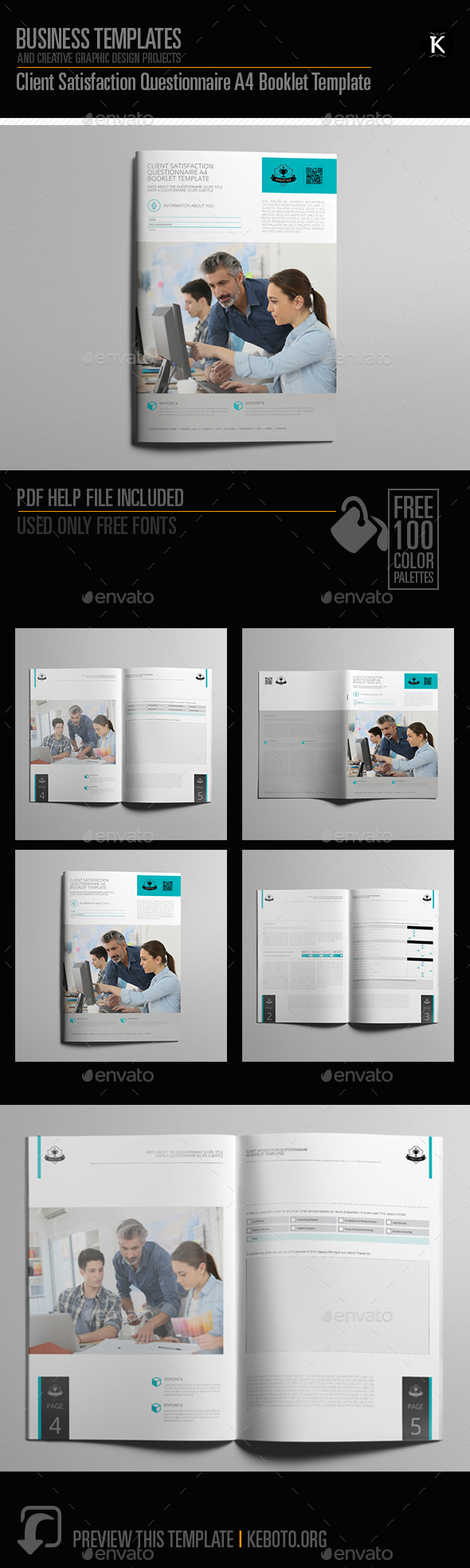 Client Satisfaction Questionnaire A4 Booklet Template - Miscellaneous Print Templates