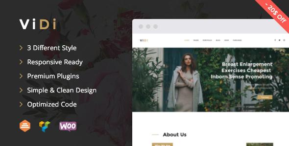 ViDi - Multi-Purpose Corporate WordPress Theme - Business Corporate