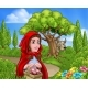 Little Red Riding Hood and Wolf Scene - GraphicRiver Item for Sale