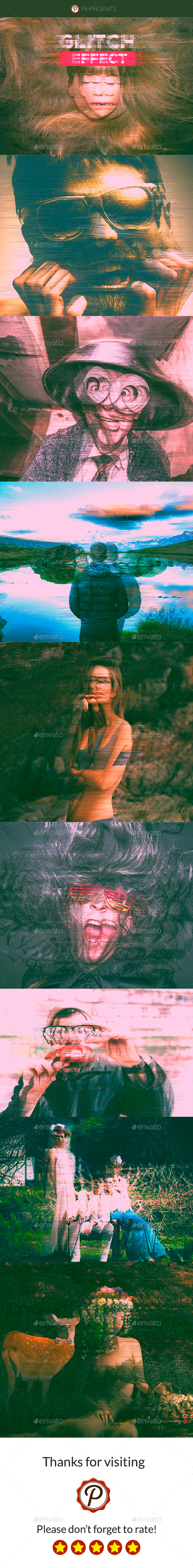 GraphicRiver Pro Glitch Effect Photo Template 20661188
