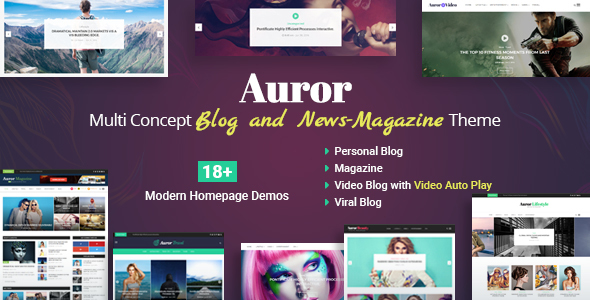Download Auror- Blog Magazine WordPress Theme