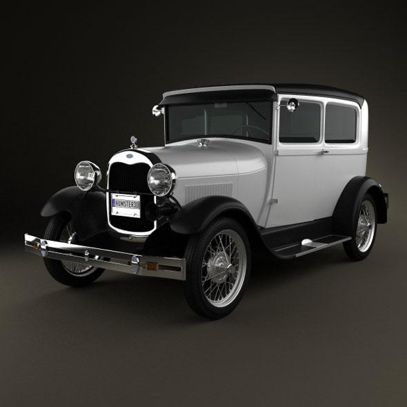 Ford Model A Tudor 1929 - 3DOcean Item for Sale