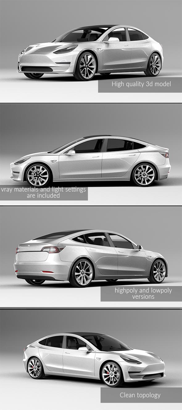 3DOcean Tesla model 3 20661296