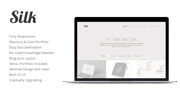 ThemeForest Silk High-End Minimal Portfolio Theme 20456085