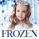 Frozen Theme Kid Birthday Invitation / Flyer / Poster / Instagram Post