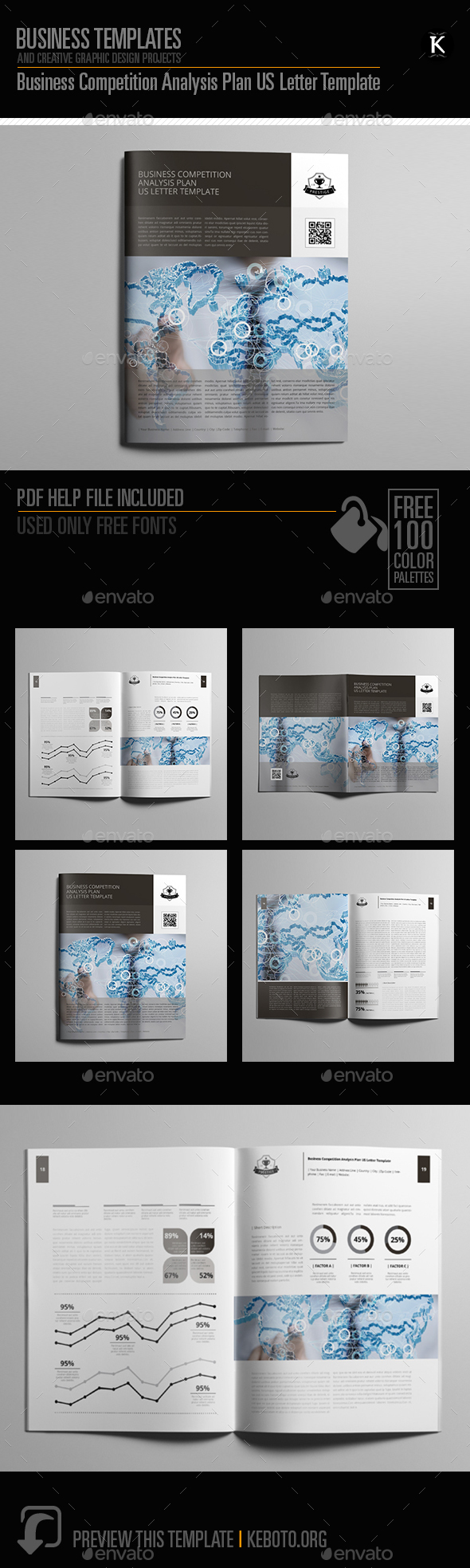 GraphicRiver Business Competition Analysis Plan US Letter Template 20661578