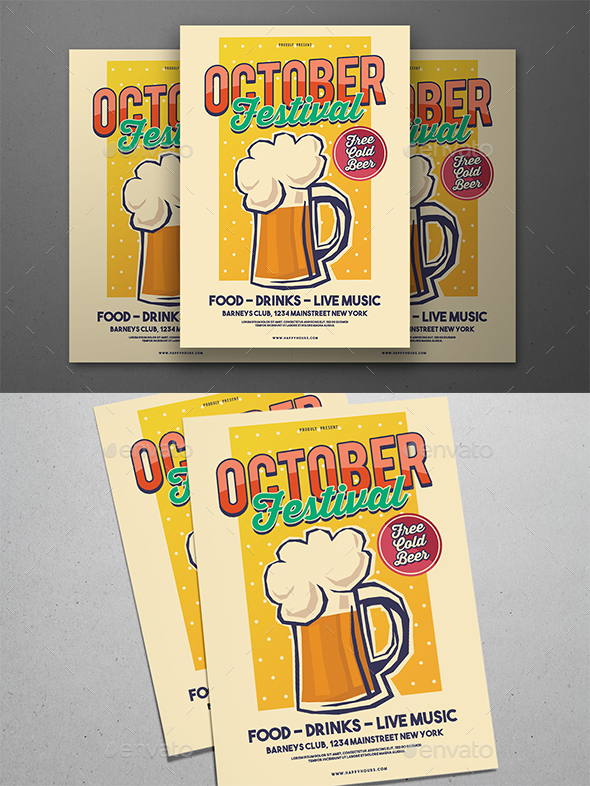 October Festival - Events Flyers