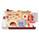 Kitchen in Pizzeria - GraphicRiver Item for Sale
