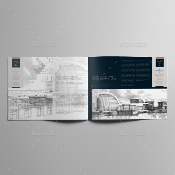 Professional Architecture Portfolio US Letter Template By