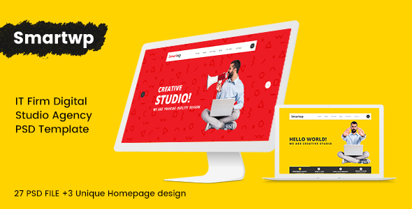 Smartwp - IT Firm digital studio Agency PSD Template