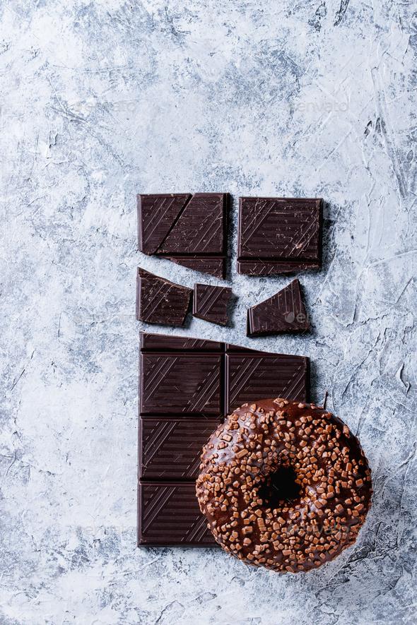 Chocolate glazed donut - Stock Photo - Images