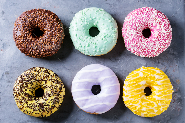 Colorful glazed donuts - Stock Photo - Images