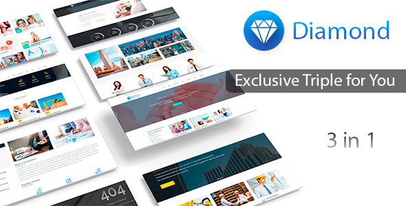 Business | Medical | Construction - Responsive Multi-Purpose Template - Diamond