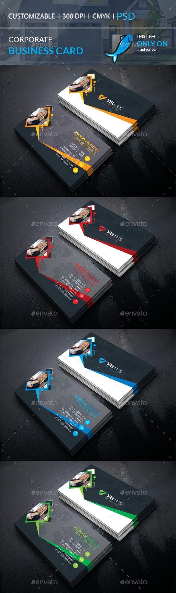 GraphicRiver Corporate Business Card 20661898