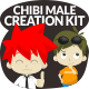 Chibi Character Male Creation Kit - GraphicRiver Item for Sale