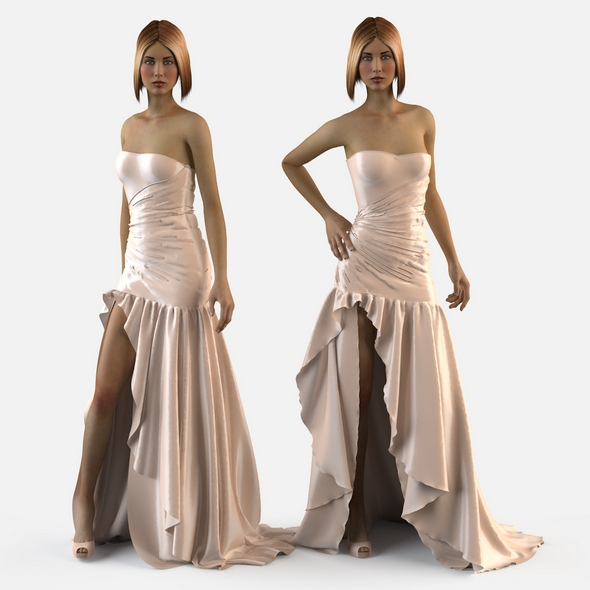 Wedding evening dress holiday Escort fashion designer - 3DOcean Item for Sale