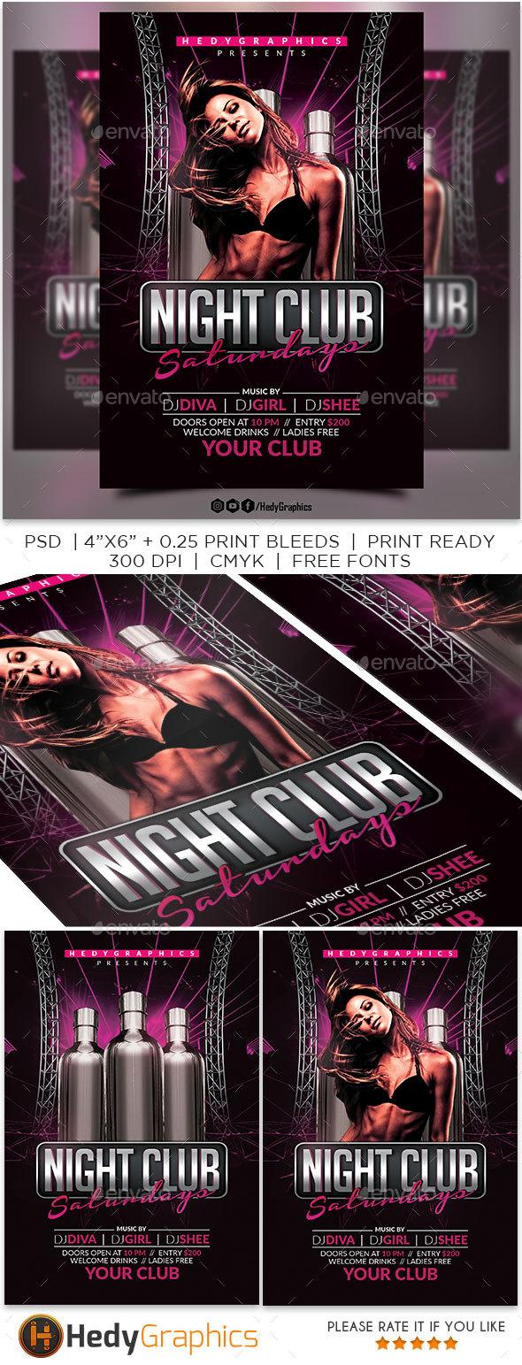 Night Club Saturdays - Clubs & Parties Events