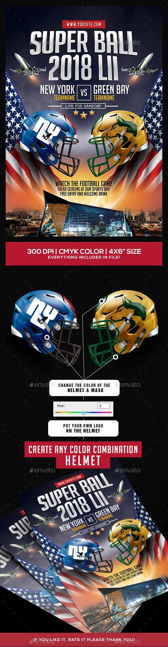 GraphicRiver Super Ball American Football Flyer 20662098
