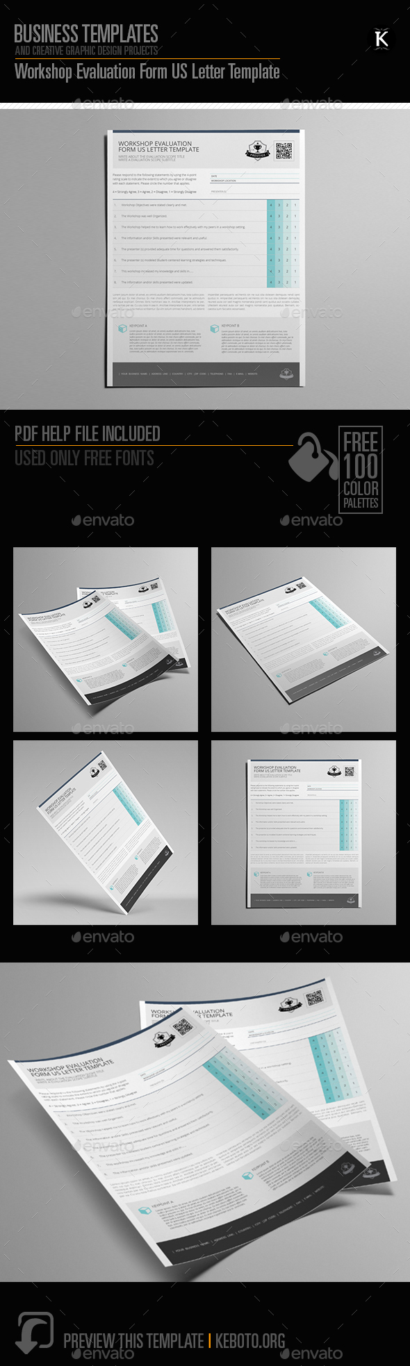 Workshop Evaluation Form US Letter Template - Miscellaneous Print Templates