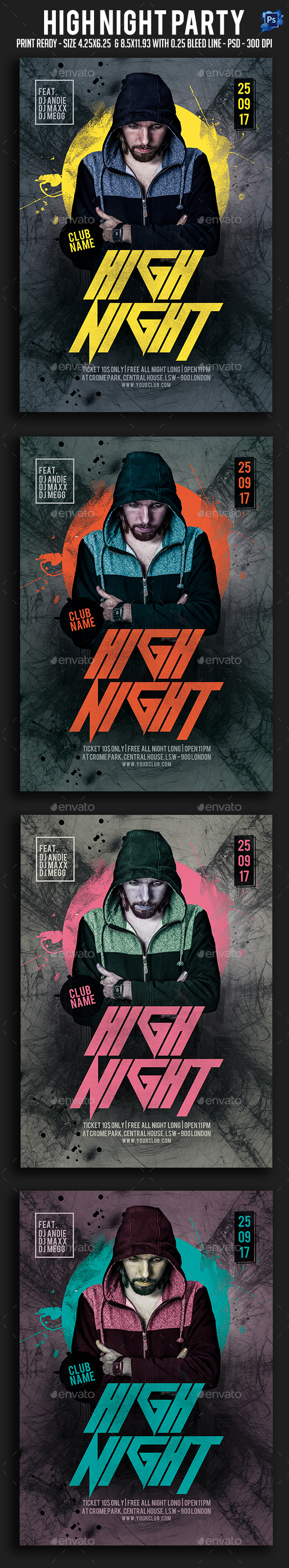 High Night Party Flyer - Clubs & Parties Events
