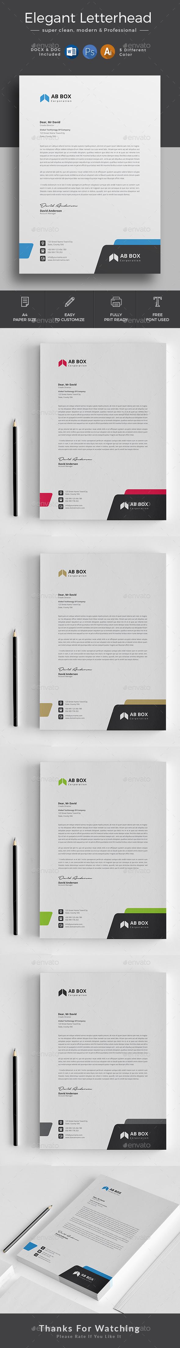 GraphicRiver Letterhead 20662293