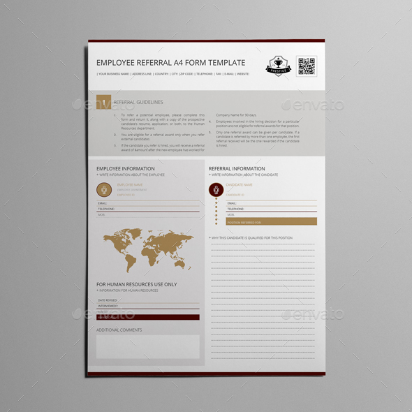 Employee Referral A4 Form Template   Kfea 1 Employee Referral A4 Form  Template   Kfea 2 Employee Referral A4 Form Template   Kfea 3 ...