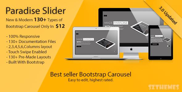 Paradise Slider - Responsive Bootstrap Carousel Plugin - CodeCanyon Item for Sale