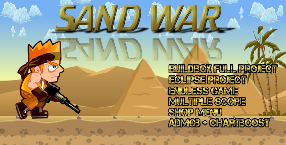 Sand war - Buildbox Game Template + Android Eclipse Project Template - CodeCanyon Item for Sale