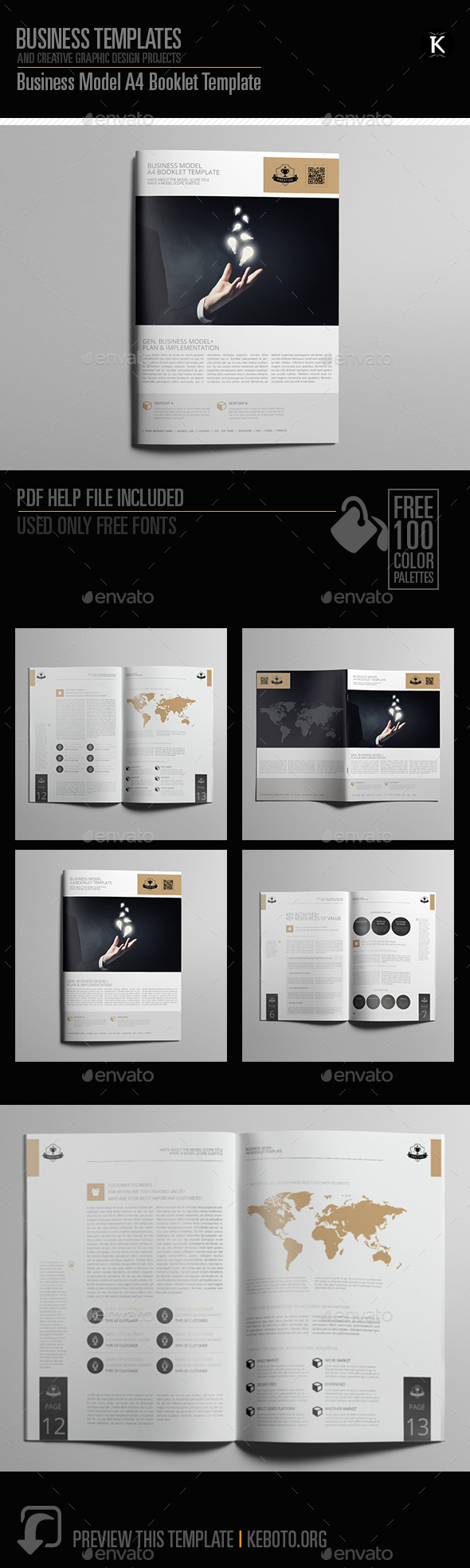 Business Model A4 Booklet Template - Miscellaneous Print Templates