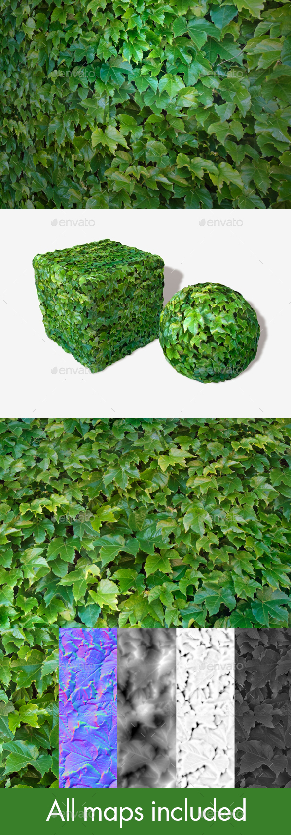 3DOcean Shiny Green Leaves Seamless Texture 20662816