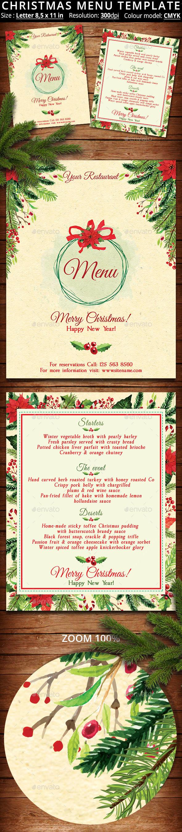 GraphicRiver Christmas Menu Template 20663117