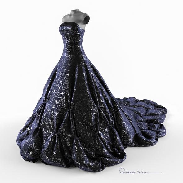 Wedding evening dress, holiday, Escort, fashion designer - 3DOcean Item for Sale