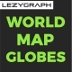 World Map Globes - VideoHive Item for Sale