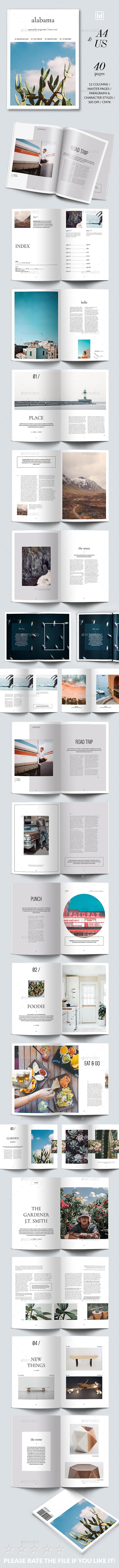 Alabama Magazine Template - Magazines Print Templates