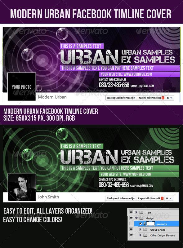 Modern Urban Facebook Timeline Cover - Facebook Timeline Covers Social Media